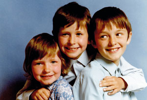 Duprez aged six and brothers Ian and Steve