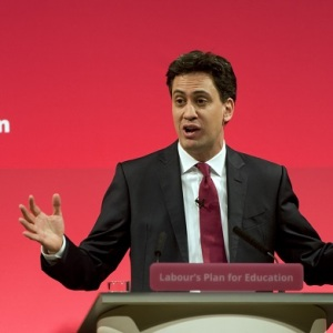 Ed Miliband delivers education speech at Haverstock