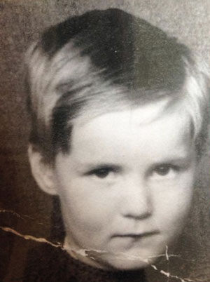 McLoughlin aged five.