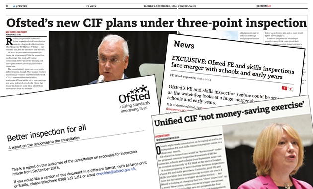 'Devil in the detail' warning on Ofsted's new CIF