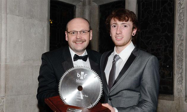 Woodwork award for joiner Ben
