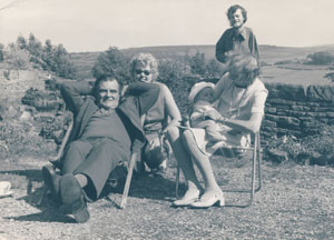 Grainger (rear) with, from left, Ken, mum Joan, Harry and Grainger's paternal grandmother, Elsie