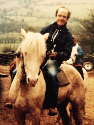 Bennion pony trekking at Brecon Beacons, South Wales, in 1980
