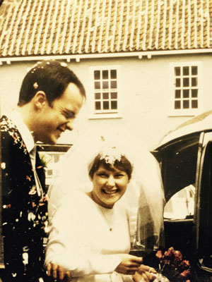 Bennion with Liz on their wedding day in 1968