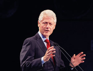 Bill Clinton speaking at the awards ceremony