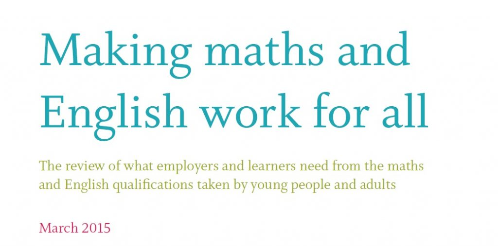 ETF English and maths review finds Functional Skills 'not broken'