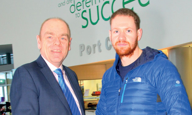 Specialist Army training boosts Peter's icy trek hopes