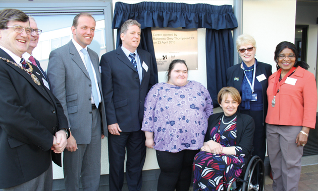 Famed Paralympian opens centre for disabled students