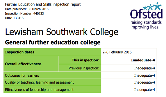 Lewisham Southwark College gets two-inadequates-in-a-row first as pace of improvement criticised