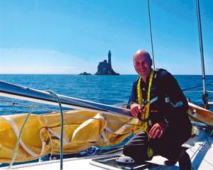 Farrar sailing off the east coast of England