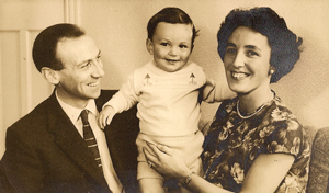 Farrar as a baby with dad Ron and mum Doreen in 1962