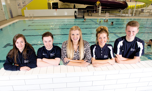 Golden girl Rebecca opens splashing new sports centre