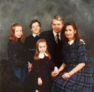 McNally, brother Hugh, sister Jennifer, father John and mother Annajane