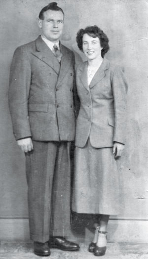 Hatton's parents Sean and Bridget on their wedding day in 1949