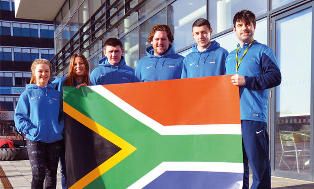 Cape Town youngsters' warm football welcome
