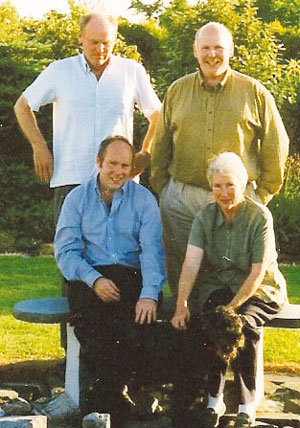 Back from left: Hatton's brother Steve, Hatton. Front, from left: Hatton's brother Matt and mum Bridget, in Ireland, 1995