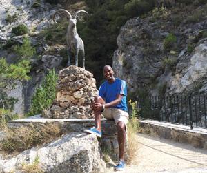 Gordon in Spain last year