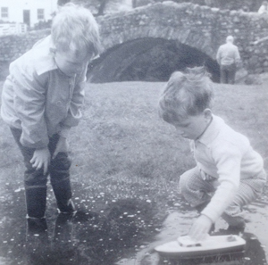 Cole (left) with younger brother Nigel