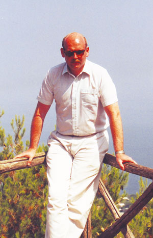 Hatton on holiday in Italy, aged 32