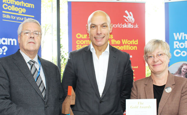High profile football referee honoured at old college