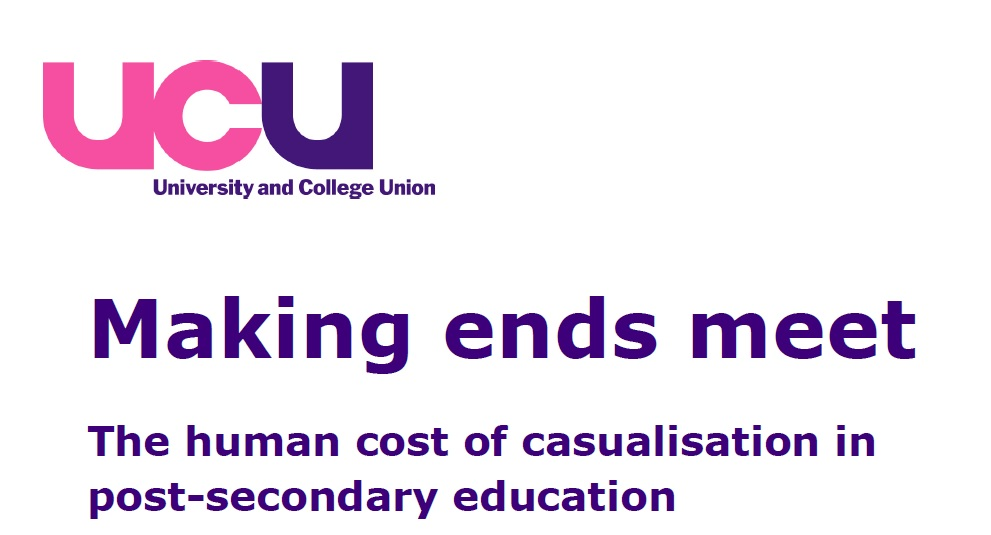 'Casualised' work contracts damaging 40 pc of FE workers' home-ownership hopes, UCU research finds