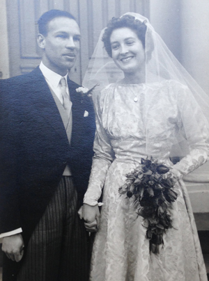Cole's father David and mother Jose at their wedding in 1958