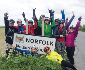 The expedition crew reach the last leg in Norfolk