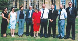 Spencer (third from right) at his parents' Golden wedding anniversary with his siblings in 2003