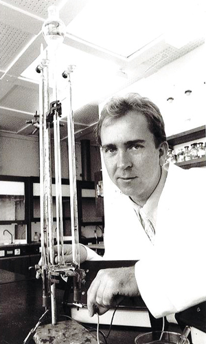 Spencer in a science lab in 1994