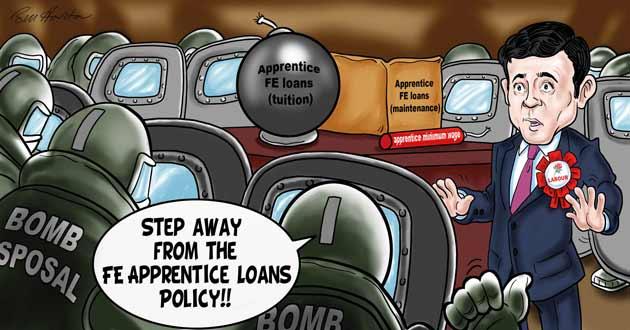 Burnham backlash over apprentice loans worries