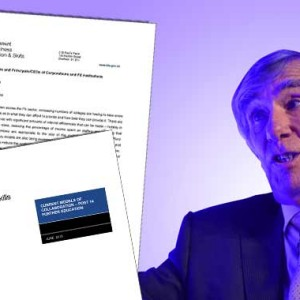 FE Commissioner issues college merger guide as he concedes 'there's not enough cash to keep going like this'