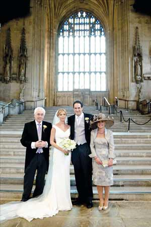 From left: Willis with daughter Rachel, son in law Tim and wife Heather in the House of Commons