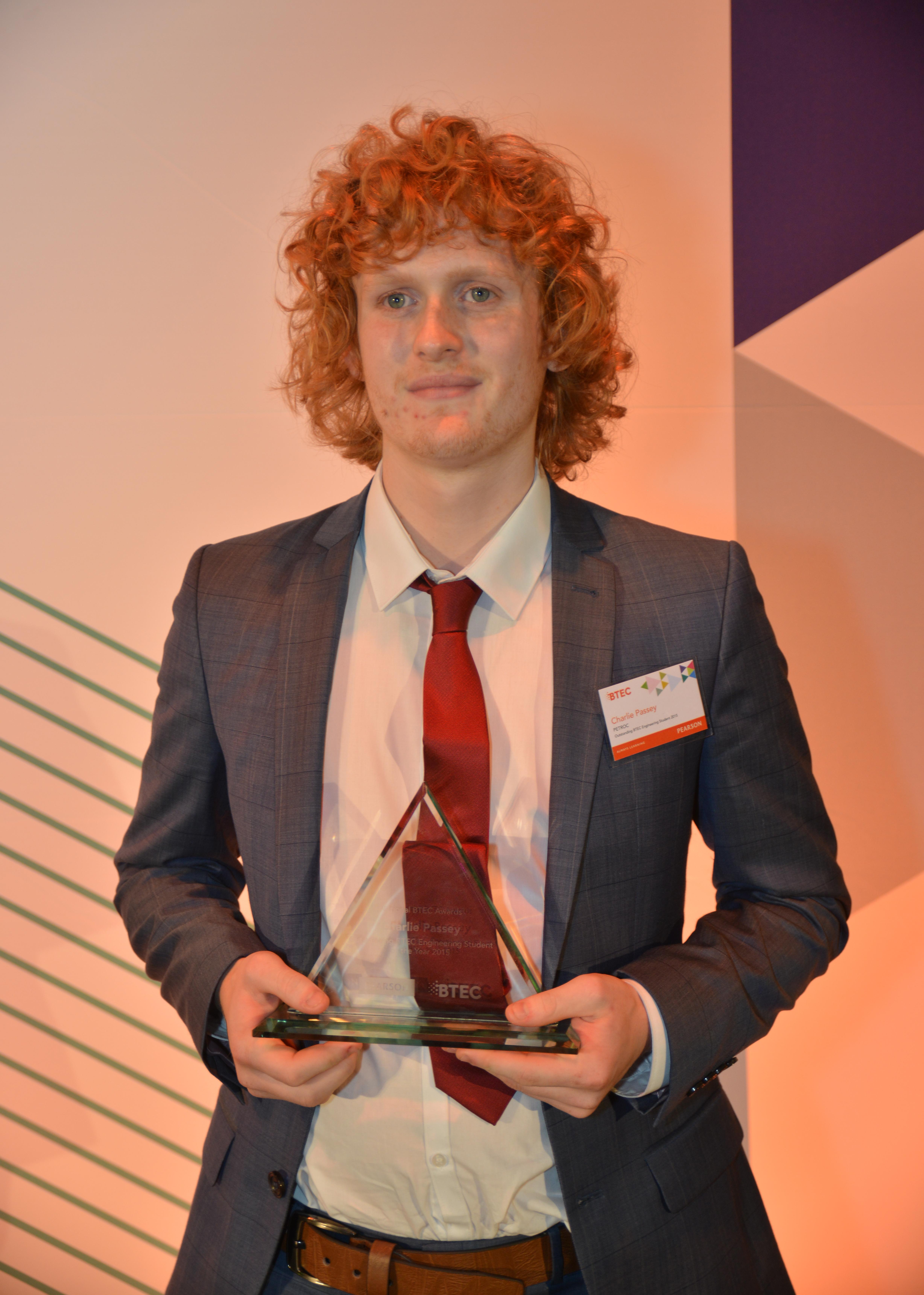 Charlie Passey, aged 20, Petroc College (Devon)