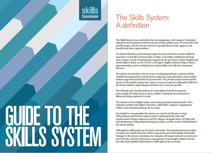 New guide aims to improve understanding of skills system among policy makers