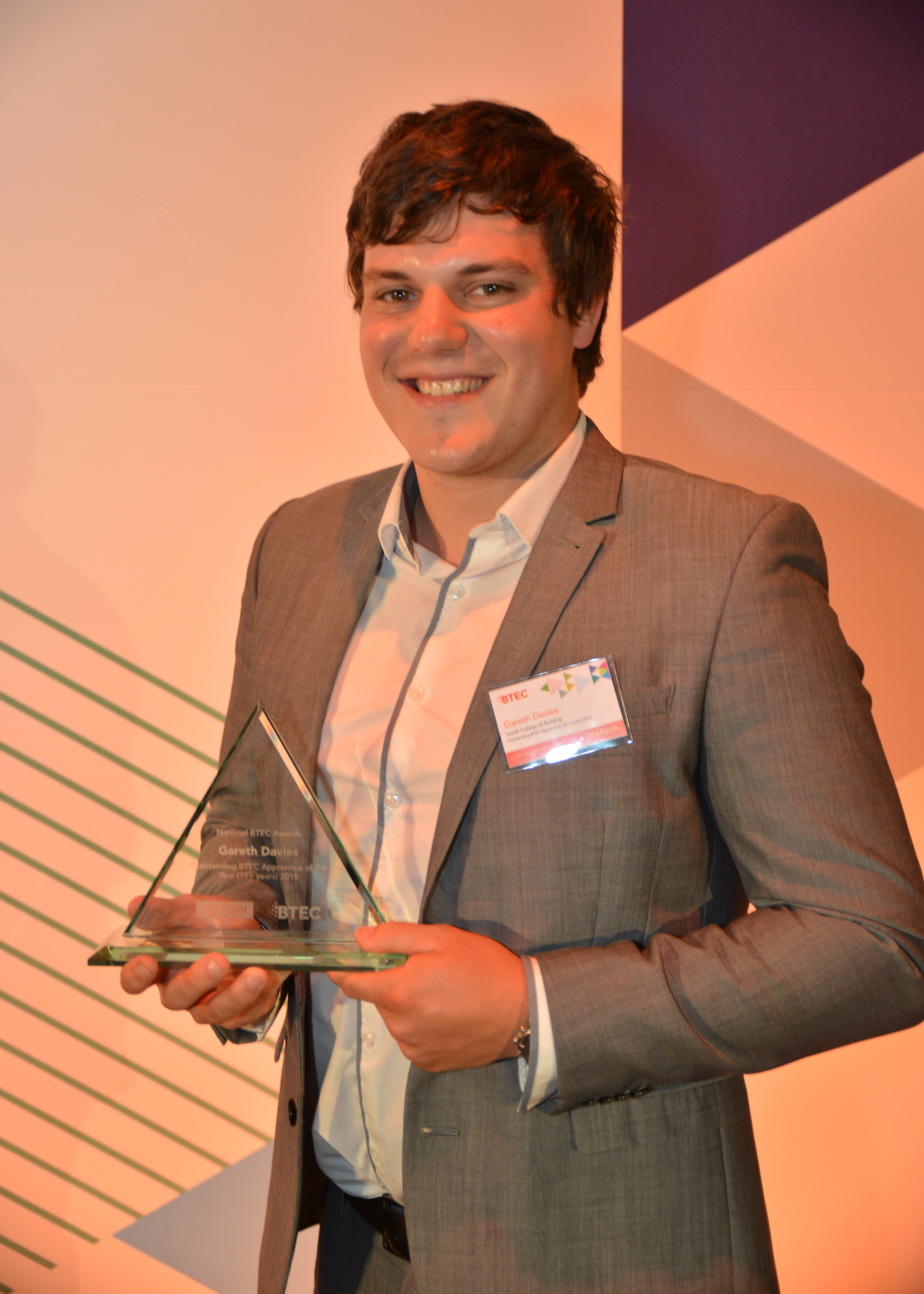 Gareth Davies, aged 24, Leeds College of Building