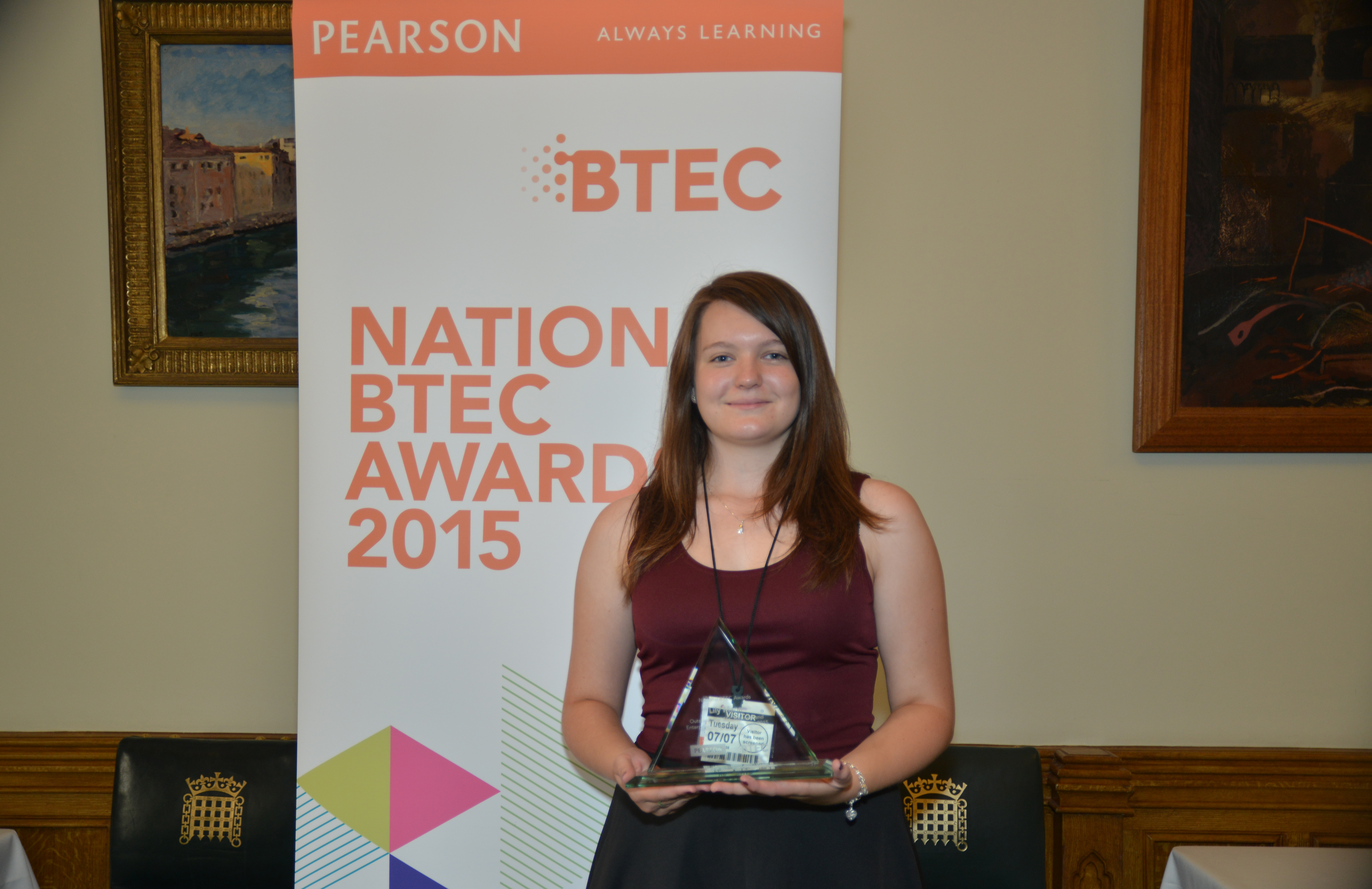 Megan Taylor, aged 19, Nescot College (Epsom)