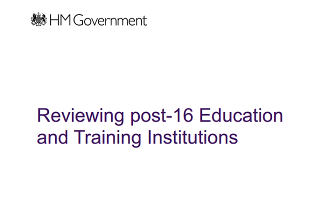 Government reveals college cull plans as it launches national review of post-16 education