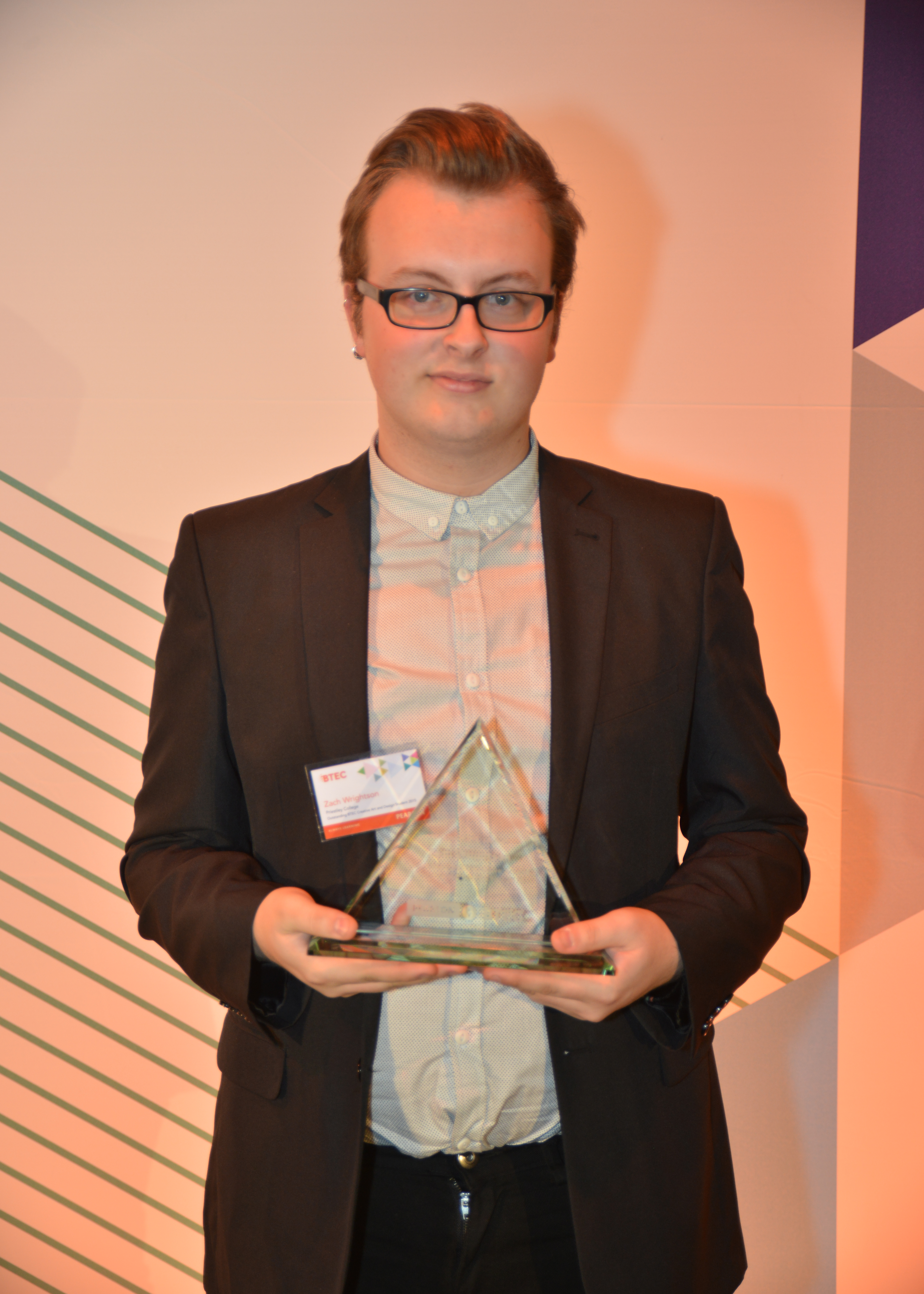 Zach Wrightson, aged 19, Priestley College (Cheshire)