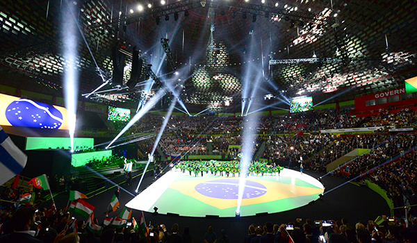 'Share the lessons of Sao Paulo,' flag-waving competitors are told as WorldSkills 2015 opens