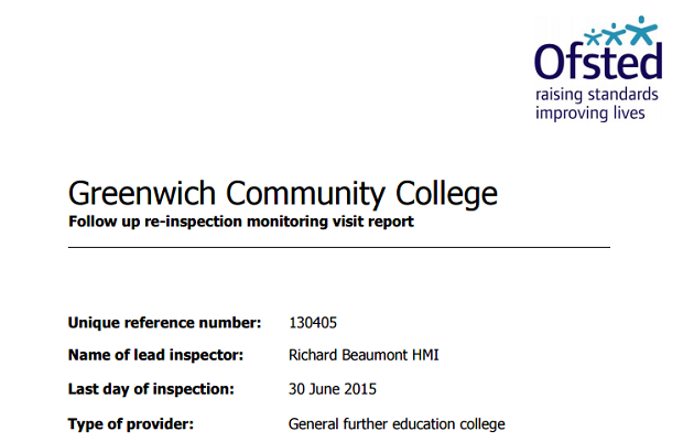 Cash-strapped Greenwich Community College making 'reasonable progress' eight months after inadequate blow
