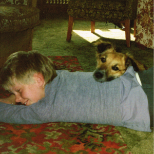 Allison aged 10 with dog MacTannish