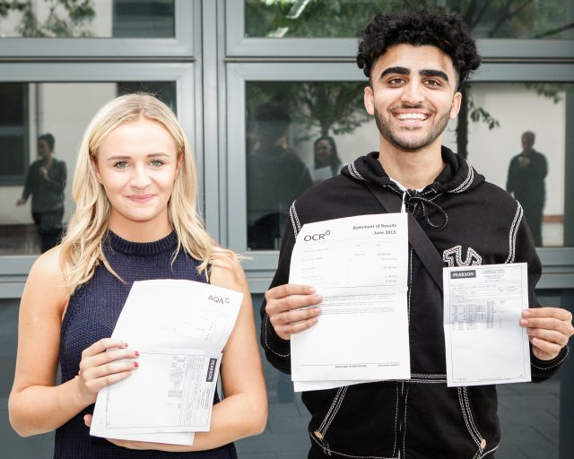 Siobhan McNicholas and Bilal Khan A levels