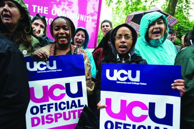 UCU members at Lambeth College go on indefinite strike over cuts to their sick pay. 3-6-14