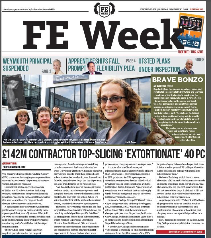 FE Week edition 120 - December 1, 2014