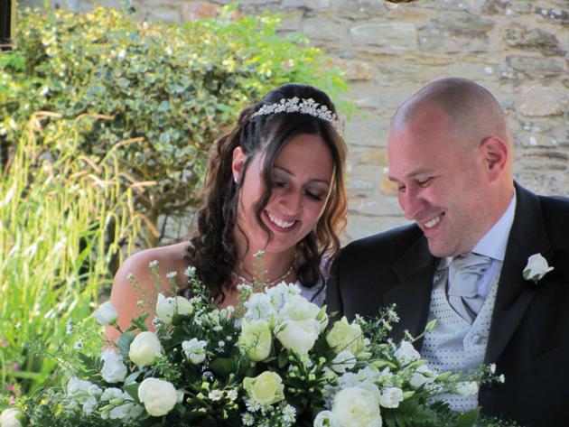 Hairdressing skills put crown on wedding day