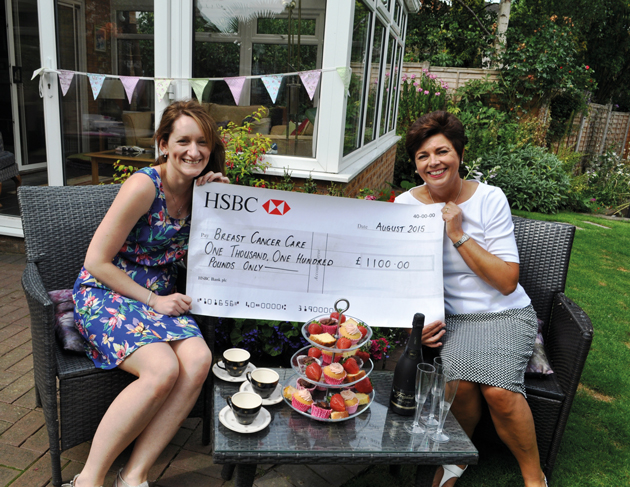 Charity money pours in from quality officer's strawberry tea