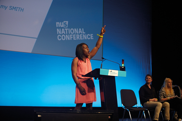 Shakira Martin speaking at the NUS conference in April