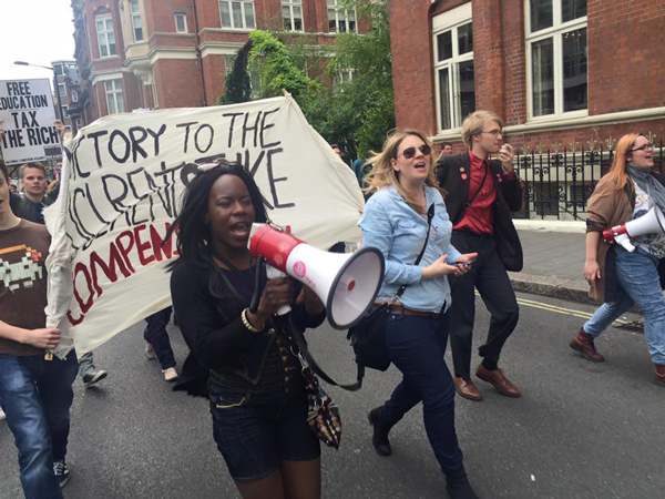 Shakira Martin at an anti-cuts march in central London in May