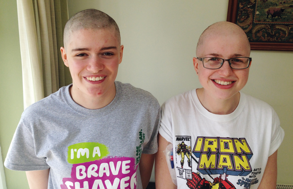 Kathryn lends hair support to friend undergoing chemotherapy