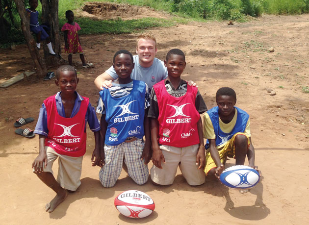 Rugby trip to Africa inspires sporting Matty